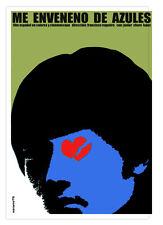 Cuban movie Poster for Spanish film Me enveneno de azules.POISON Blue.room