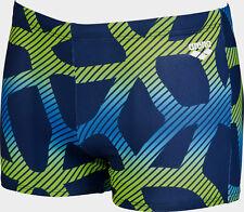 ARENA Badehose Größe M/5 blau grün, Badeshorts, Badeboxer, Badepant Spider