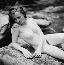 8 x 10 Fine Art NUDE print female model naked Black & White photograph. Signed!!