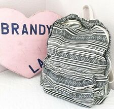 Authentic brandy melville Gray/cream Aztec Print School Backpack NWT