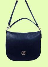 COACH 36762 TURNLOCK Navy Pebble Leather Shoulder Hobo Bag Msrp $350.00