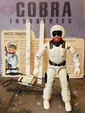 GI JOE ~ 1983 SNOW JOB ~ ARCTIC TROOPER ~ 100% COMPLETE & file card