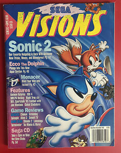 1992 Sega Visions Magazine November/December No Mailing Label Clean