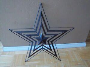 """Metal 3D Star Brown Painted Metal Wall Art 23"""" Diameter"""