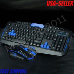 Keyboard Gamer / Office & Mouse Combo Slim 2.4GHz 104 Keys with Receiver