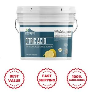 Citric Acid (8 lbs) Food Safe, Preservative, Non-GMO, Resealable Bucket
