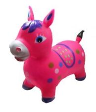 Bouncy animal, bouncy Pink horse inflatable with pump KIDS TOYS