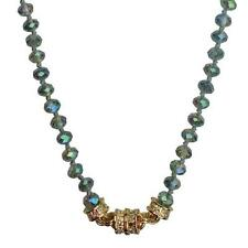 """KIRKS FOLLY  MYSTIC DREAM LONG 30"""" BEADED MAGNETIC NECKLACE goldtone NEW RELEASE"""