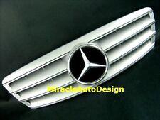 Silver Front Grill 2000-2007 Mercedes Benz W203 C-Class C350 C320 C280 C240 C230