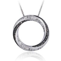 0.50ct TDW Black or Blue & White Diamond Eternity Necklace