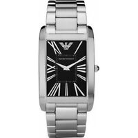 Emporio Armani AR2053 Super Slim Stainless Steel Rectangle Mens Watch