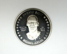 Michael Jordan 1986-87 NBA SCORING CHAMP 1 oz .999 Fine Silver Limited Medal