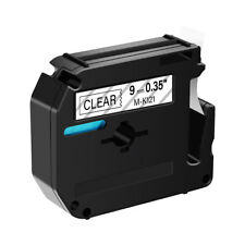 Black On Clear 9mm Tape For Brother P Touch Pt 90 Mk121 M K121 Label Maker 1pk