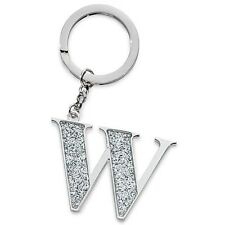 Silver Options A20247 Glitter Keyring Letter W