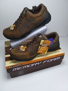Skechers Relaxed Fit Men's 8.5 Dark Brown Athletic Shoes With Memory Foam In Box