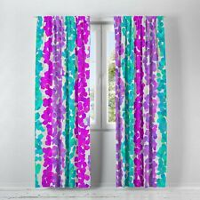 April Showers Abstract Window Curtains by FolkNFunky