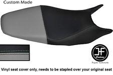 Negro y Gris personalizado de vinilo cabe HONDA HORNET CB 600 98-01 Dual Cubierta de asiento solamente