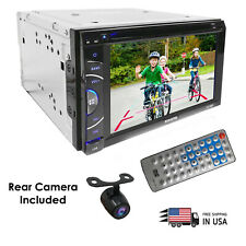"CAR DOUBLE DIN 6.2"" TOUCHSCREEN DVD USB DIGITAL MEDIA BLUETOOTH STEREO +CAMERA"