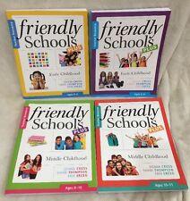 "Friendly Schools Plus Teacher Resource Set Of 4 Books Ages 4-6, 6-8,8-10,10-11 """