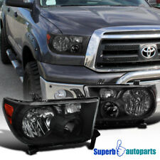 for 07-13 Toyota Tundra/08-14 Sequoia Replacement Headlights LH+RH Black