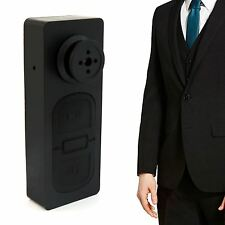 Cámara Espía Mini Cámara Espía Agujero De Alfiler Botón Video Grabadora DVR Oculta de Seguridad