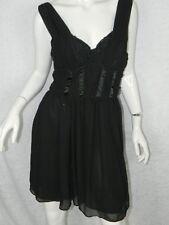 H&M Dress Black Corset Chiffon Sexy Dress Size 12