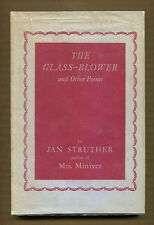 THE GLASS-BLOWER & OTHER POEMS by Jan Struther - (1941) Later Ed in DJ - SIGNED