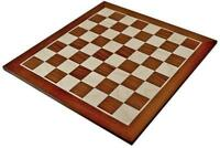 A high quality Mahogany & Sycamore Chess Board 50mm Squares