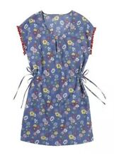 Cath Kidston Floral Dress Tunic With Pom Pom Detail On Sleeve Size XS RRP £55