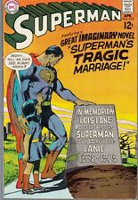 SUPERMAN #215 1969 DC -LOIS LANE DEAD/ SUPERMAN'S TRAGIC MARRIAGE-...VF