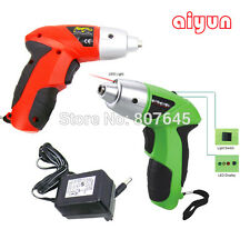 Mini Rechargeable Cordless Electric Drill Power Tool Charger Bits Screwdriver