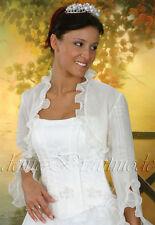 Brautbolero Bolero Jacke weiß ivory elfenbein neu z. Brautkleid Hochzeitskleid