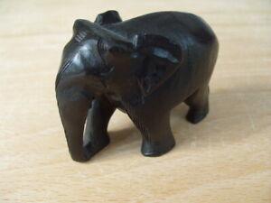 Holztier Holz Figur Tier Elefant Glückselefant Hardholz Handarbeit 38 cm hoch
