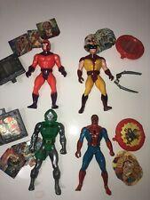 Marvel Secret Wars Lot Of 4 Action Figures 1984 Magneto Wolverine Dr Doom Spider