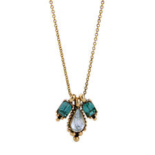 Crystal Sample Geometric Waterdrop Necklace Charm Pendant Long Chain Accessories