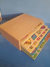 Educational Toy Wooden Box.Used.Check Photos.*A6*
