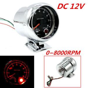 """3.75"""" 7 Colors Adjusted Car Tachometer 0-8000 RPM Fit for 4 6 8 Cylinder Engine"""