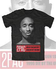 Tupac M4  T-Shirt Black 2Pac Makaveli West Coast Hip Hop Swag Dope Asap RIP
