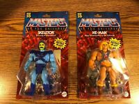 Masters of the Universe HE-Man Skeletor Retro Action Figure LOT Origins 2020 NEW