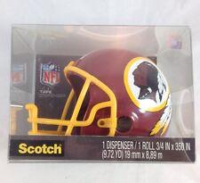 Washington Redskins Mini Helmet Tape Dispenser 3M Scotch Magic NFL Football Desk