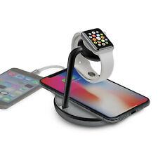 Kanex Qi Cargador Inalámbrico, Soporte de muelle de reloj + puerto USB para Apple Watch & iPhones