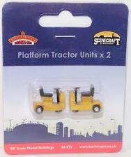 OO 1:76 44-539 Bachmann Scenecraft 1 x Pack, 2 Platform Tractor Units FNQHobbys