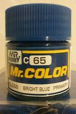 """Gunze Sangyo """"Mr. Color"""" acrylic paint C-65 Bright Blue, 10ml"""