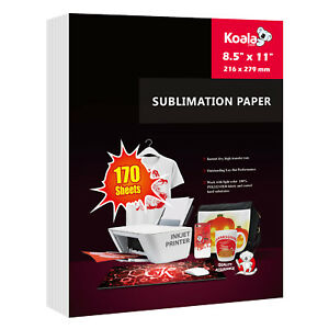 170 Sheets Koala Sublimation Paper 8.5x11 for Inkjet Heat Transfer Cotton Poly