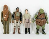 LOT of 4 Vtg 1977-1984 Star Wars Action Figures Princess Leia Chewbacca etc