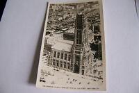 Rare Vintage RPPC Real Photo Postcard B1 New York City Riverside Church Cars