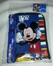 Blue Disney Mickey Mouse lanyard ID Fast Pass Wallet Phone Case Coins Bag Holder