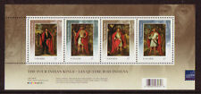 CANADA 2010 FOUR INDIAN KINGS LONDON OPT. MINIATURE SHEET UNMOUNTED MINT, MNH