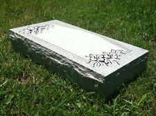 "Granite Headstone Flat with Design ( L24"" x W12"" x H4"" ) 8 options"