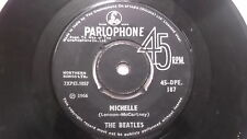 THE BEATLES 45 DPE 187 BLACK PARLOPHONE MICHELLE rare SINGLE INDIA INDIAN 26 VG